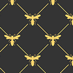Devonstone Queen Bee - Honey Bee Lattice in Black