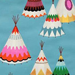Monkey's Bizness - We See Teepees in Aqua