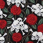 Nicole's Prints - Skulls in Black