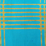 Alison Glass - Chroma - Plaid in Turquoise