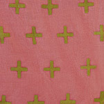Handcrafted - Crosses on Pink