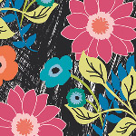 Art Gallery Fabrics - Jungle Ave. Floral Asphalt