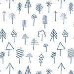Lagom - Stick Forest Outlined