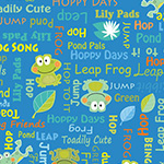 Toadily Cute - Words in Blue