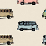 Benartex - Mini Vans in Tan