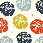 Tall Tales Organic - Stamped Rose in Cream
