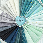 Girt by Sea in Teal Grey - Fat Eighth Bundle Starter Pack