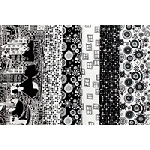 Illustrations in Black and White - Fat Quarter Bundle
