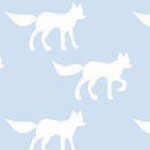Foxes in Light Blue