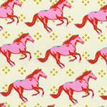 Galloping Mustang in Pink
