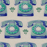 Trinket - Telephones in Aqua