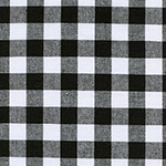Checkers - Half Inch Gingham in Black