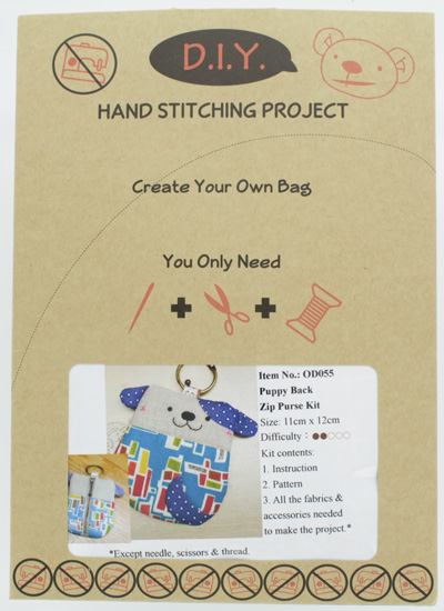Puppy Back Zip Purse Kit
