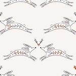 Winterfold - Hares in Natural, Copper Metallic