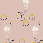 Autumn Rain - Dog and Cloud
