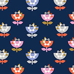 Amelie - Flowers in Navy