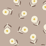 Bloom - Scattered Flowers in Taupe