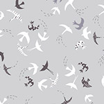 Dashwood Ditsies - Birds in Silver