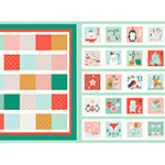 Festive Friends - 60cm Advent Calendar Panel in Multi