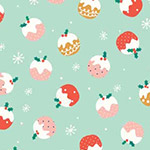 Festive Friends - Christmas Puddings in Teal