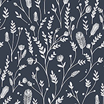 Ferns in Navy