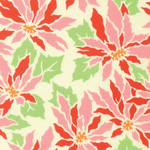Ginger Snap - Poinsettia in Cream