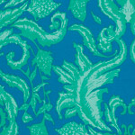 Garden of Earthly Delights - Damask in Teal