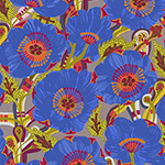Vibrant Blooms - Sunshine Bloom in Blue