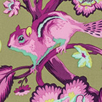 Tula Pink Chipper - Chipmunk in Raspberry