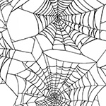 Fright Night - Spider Web in White