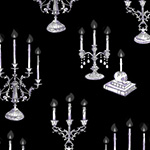 Fright Night - Candelabras in Black