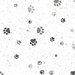 Full Moon - Paw Prints in White/Silver