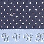 Lighthearted - Dots & Flowers in Navy