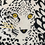 Japanese Fabric - Leopards in Linen/Cotton Blend