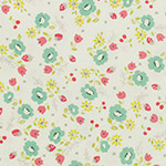Lighthearted - Small Flowers - Teal on White