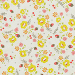 Lighthearted - Small Flowers - Yellow on White