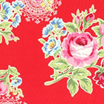 Flower Sugar - Flowers & Doilies in Red