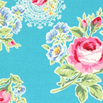 Flower Sugar - Flowers & Doilies in Aqua