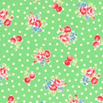 Flower Sugar - Small Flowers & Dots in Green