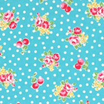 Flower Sugar - Small Flowers & Dots in Aqua