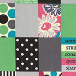 Modern Quilt - Spicy Scrap Squares in Grey/Green