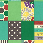 Modern Quilt - Spicy Scrap Squares in Green