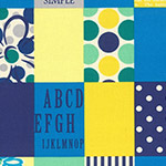 Modern Quilt - Spicy Scrap Squares in Blue/Yellow