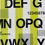 First of Infinity - Alphabet and Stripes in Citron