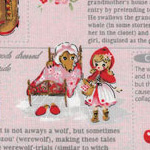 Little Heroines - Red Riding Hood and Text on Pink