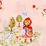 Little Heroines - Red Riding Hood and Wolf on Pink