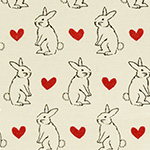 Radiant Girl - Bunnies and Hearts in Cream