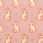 Radiant Girl - Bunnies and Hearts in Metallic Pink