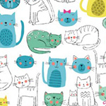 Kitty - Cats in Teal