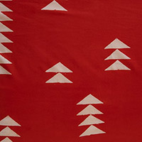 Handcrafted - Triangles on Red